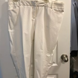 Eloquii off white Kady fit pants